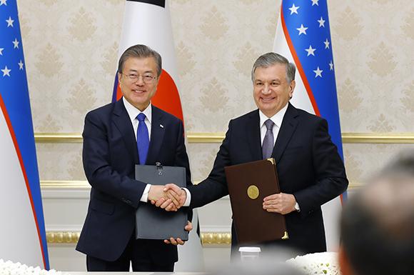 한·우즈베키스탄, '특별 전략적 동반자 관계'로 격상