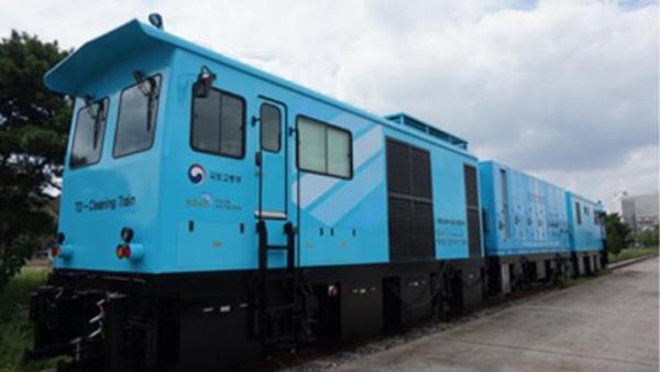 철도터널 미세먼지 제거차량 시제품
