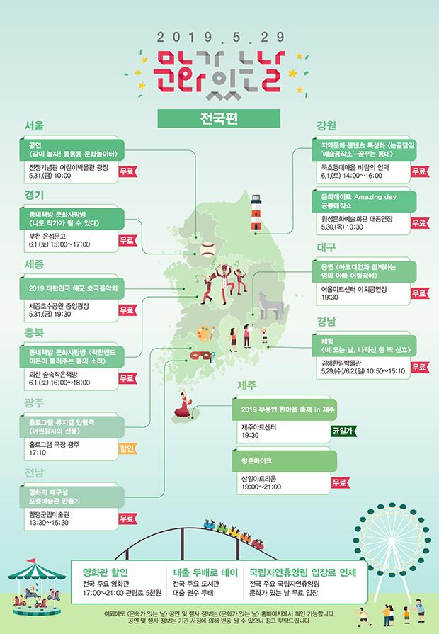 5월 문화가 있는 날 전국 지도