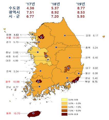 전국 공시지가 평균 8.03% 올라…서울은 12.35%