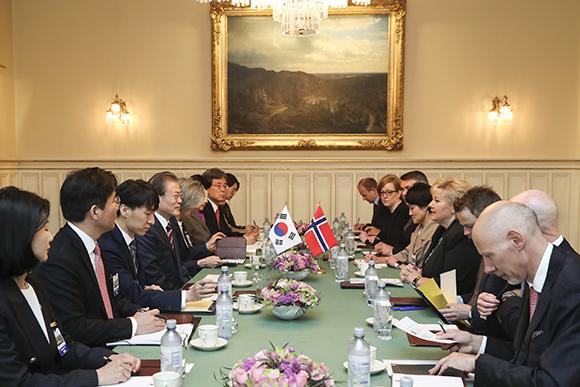 한·노르웨이 정상회담…수소경제·미래형 선박 협력 강화