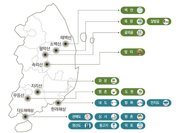 ☞ 전국 명품마을 현황 및 정보 바로가기.