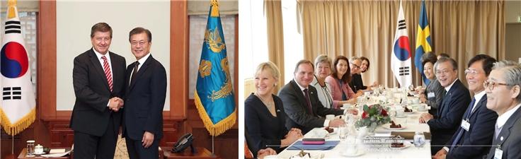 가이라이더 ILO사무총장접견, 한스웨덴 정상회담
