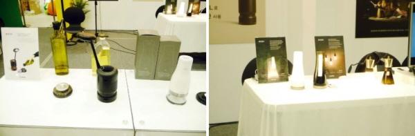 식용유1L로 200시간 작동하는 LED램프를 개발한 사회적 기업이 제품을 전시하고 있다.