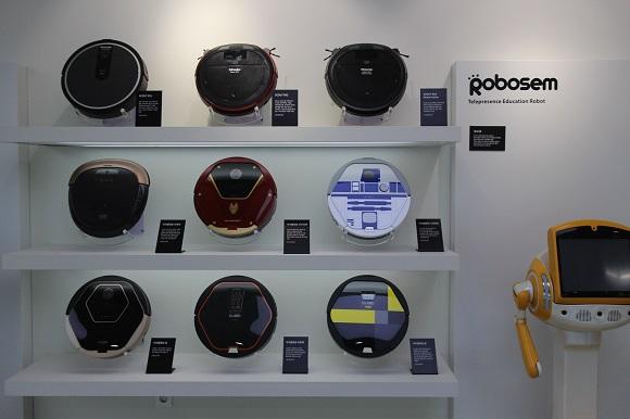 유진로봇의 대표상품인 청소로봇 아이클레보.
