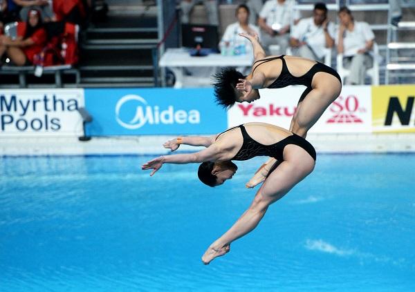 다이빙 경기 모습.(사진=조직위 제공)