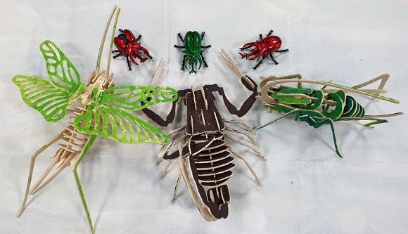 곤충 장난감 조립 완성품.