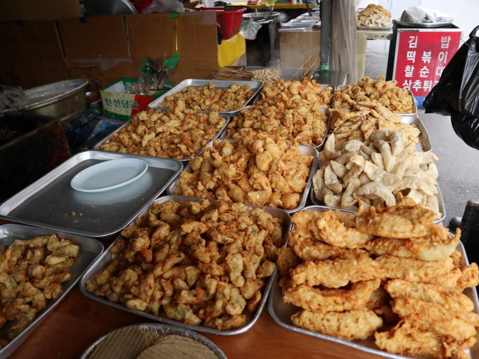 광주 산수시장에서 유명한  상추튀김집! 인심도 후하다.