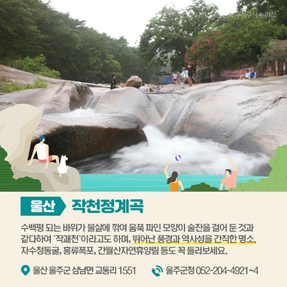 가족과 즐기기 좋은 여름 계곡 7선