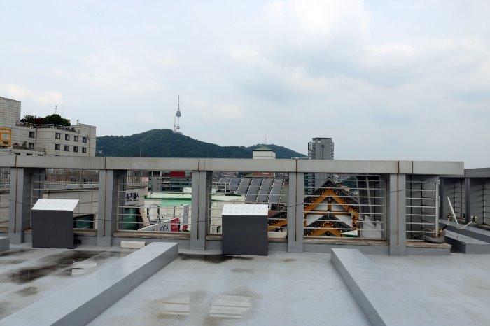 박물관 옥상 전망대 모습
