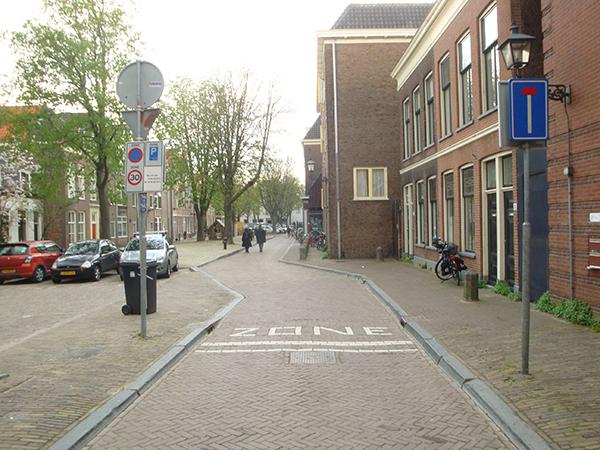 네덜란드의 지그재그 형태 도로.