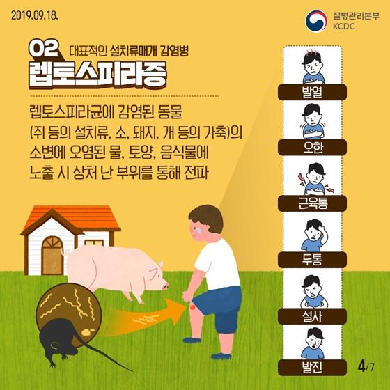 가을철 야외활동 주의보! 설치류매개 감염병