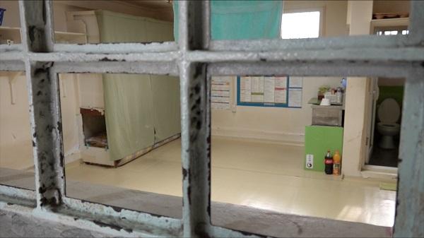 재소자들이 생활하는 수용거실의 모습