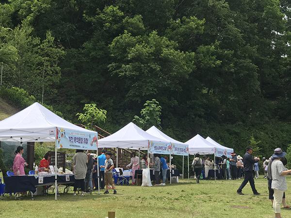 지난 6월 경기도 양주 국립아세안자연휴양림에서 열린 아세안 음식문화 페스티벌 체험부스 모습