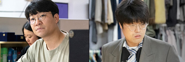 <거룩한 양복>의 김동민 연출가(왼쪽)와 김수철 배우.