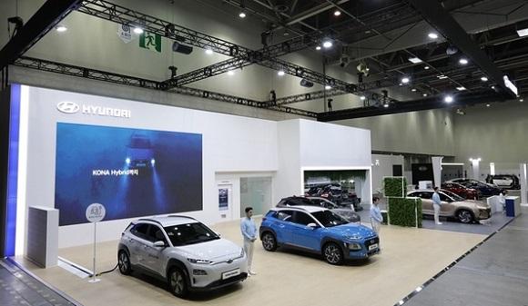 '제3회 대구 국제 미래자동차 엑스포'에 참가한 현대자동차 넥쏘가 전시된 모습. (사진=현대자동차 제공)