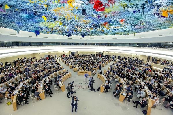 유엔 인권이사회 내부 전경.(사진=저작권자(c) 연합뉴스, 무단 전재-재배포 금지)