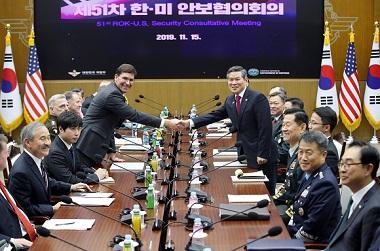 """정경두 국방장관 """"한미, 방위비 공평·상호동의 가능 수준서 결정"""""""