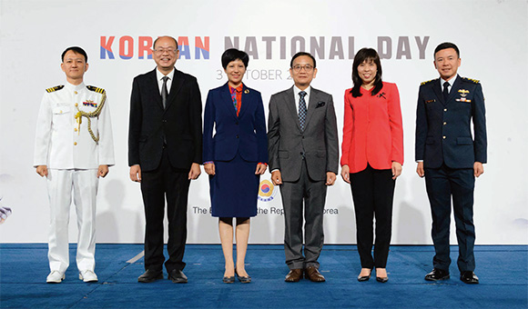 2019년 한국 국경일 행사 사진.(사진=주 싱가포르 대한민국 대사관)