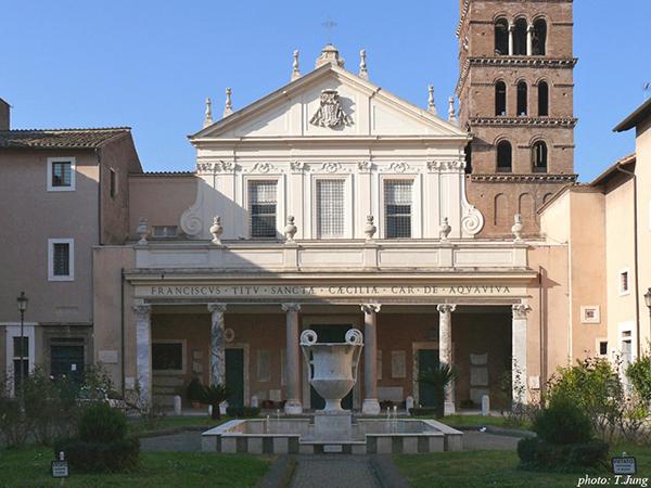 로마 트라스테베레 지역에 있는 산타 체칠리아 성당.