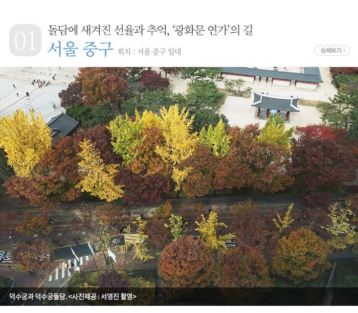 돌담에 새겨진 선율과 추억, '광화문 연가'의 길 - 서울 중구