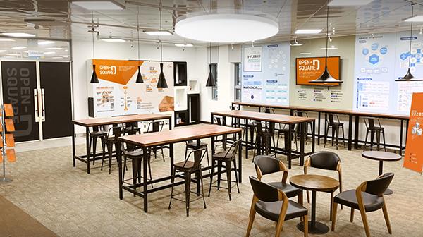 I-Plex 광주 본관 1층에 자리잡은 오픈스퀘어-D 광주. (사진=행정안전부 제공)