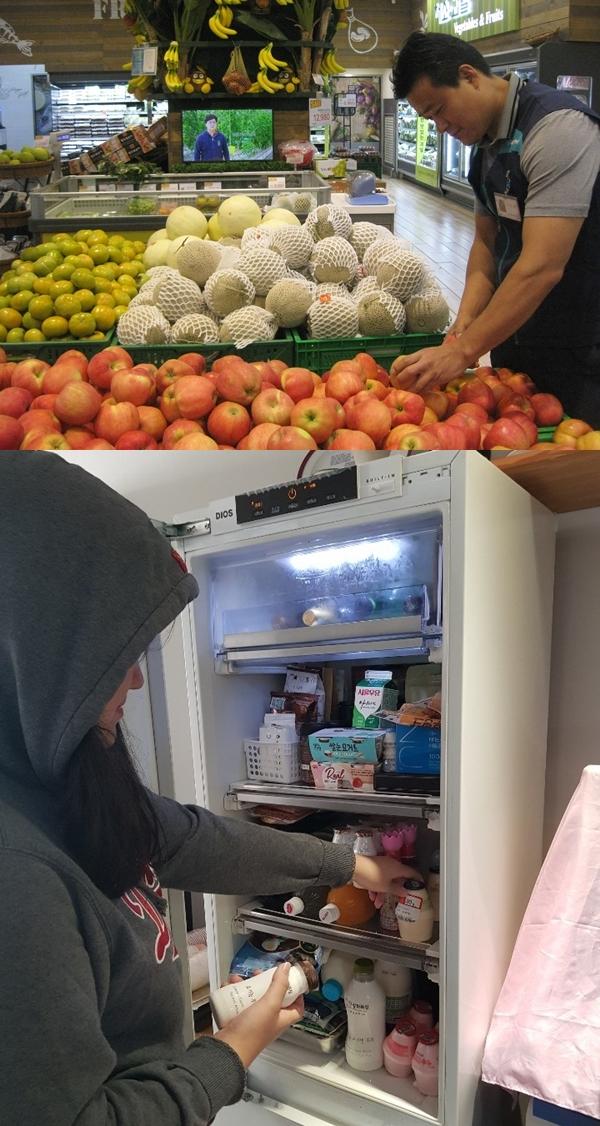 성남시 희망등대 작은도서관에서 운영중인 희망나눔냉장고다. 누구든지 눈치보지 않고 마음대로 냉장고에 있는 음료, 음식을 꺼내 먹을 수 있다. 한 독지가의 기부로 만들어진 사랑의 냉장고다.