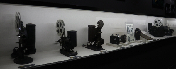 각종 영화 제작 물품.