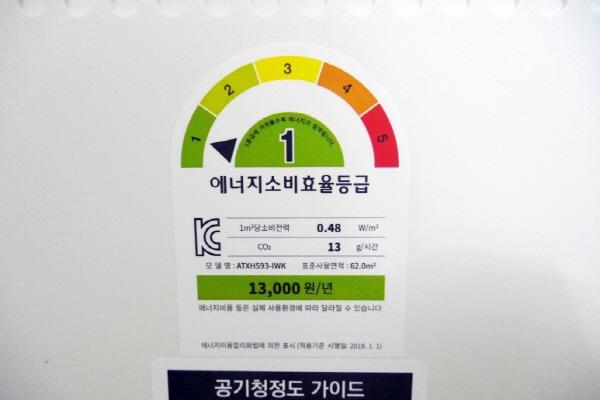 에너지 효율 등급이 1등급인 제품만 해당되며 제품명과 효율등급이 보이는 사진을 업로드해야 한다.