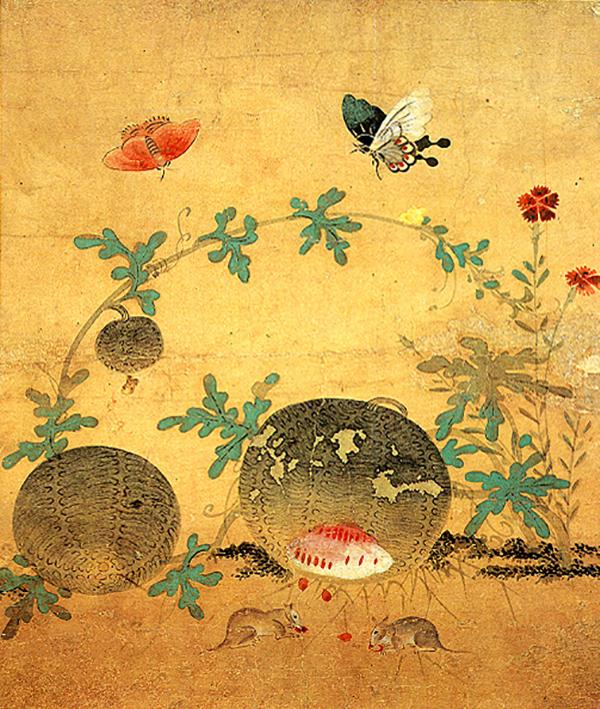 신사임당이 풀과 벌레 등을 소재로 그린 '초충도(草蟲圖)'. (그림=국립중앙박물관 제공)