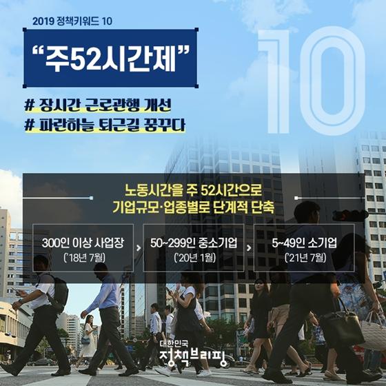2019 정책키워드 10 총정리