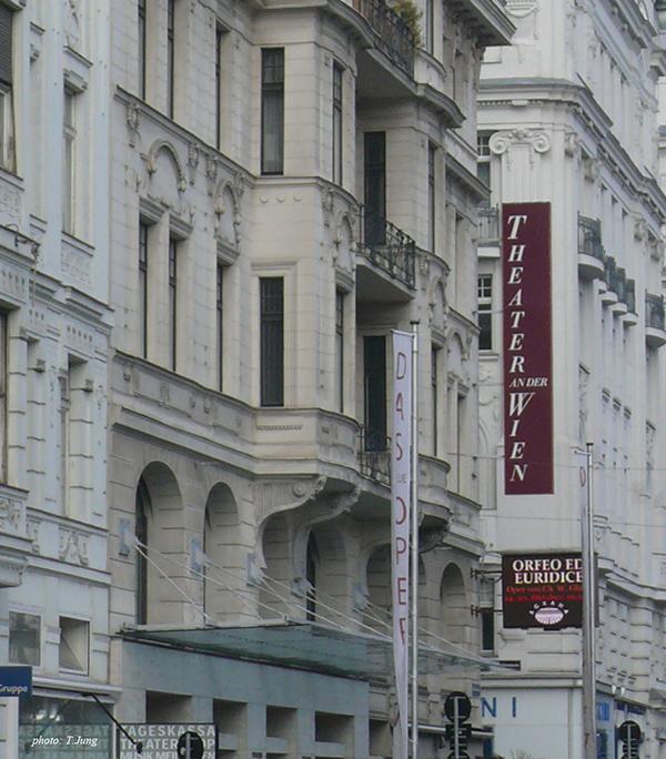 테아터 안 데어 빈의 현재모습. 베토벤의 <교향곡 제5번 '운명'>과 <교향곡 제6번 '전원'>이 초연되었던 극장이다.