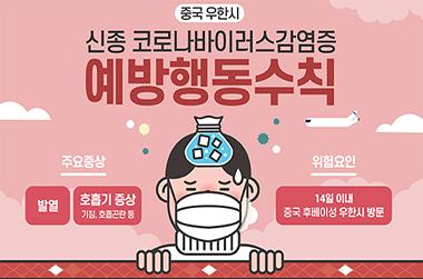 '우한 폐렴' 신종 코로나바이러스 감염증 예방행동수칙은?
