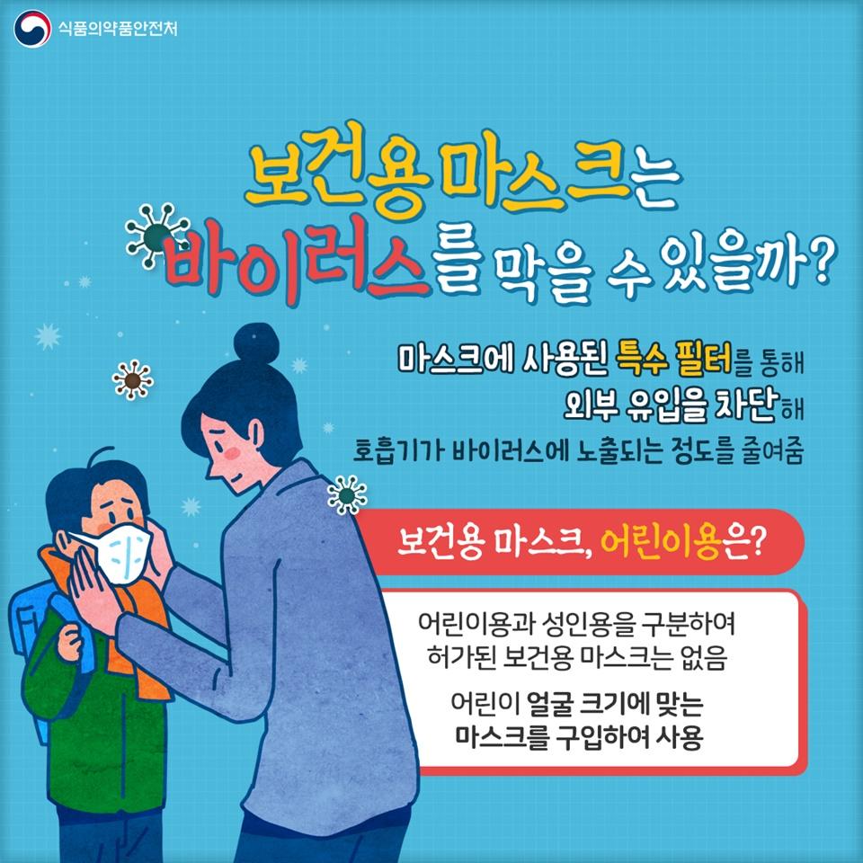 감염병 예방을 위한 올바른 마스크 착용법
