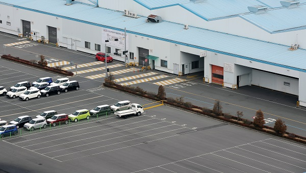 중국에서 들어오는 전선부품 '와이어링 하네스' 등의 물량이 부족해지면서 자동차를 생산하는 한 생산 공장이 휴업기간을 연장해 한산한 모습을 보이고 있다. (저작권자(c) 연합뉴스, 무단 전재-재배포 금지)