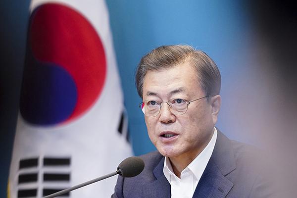 문재인 대통령이 24일 오후 청와대에서 열린 수석·보좌관회의에서 발언하고 있다. (사진=청와대)