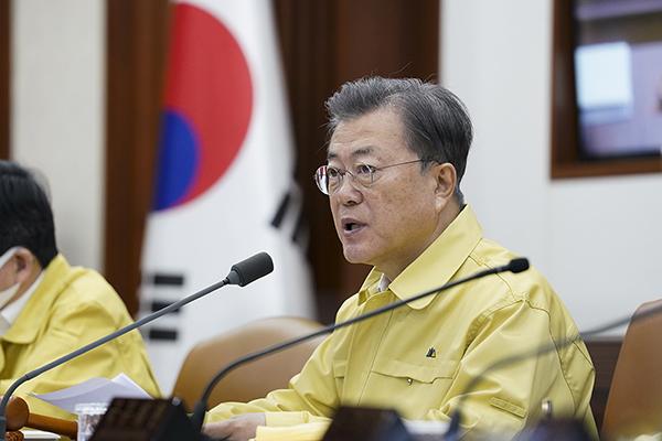 문재인 대통령이 17일 열린 국무회의에서 발언하고 있다. (사진=청와대)