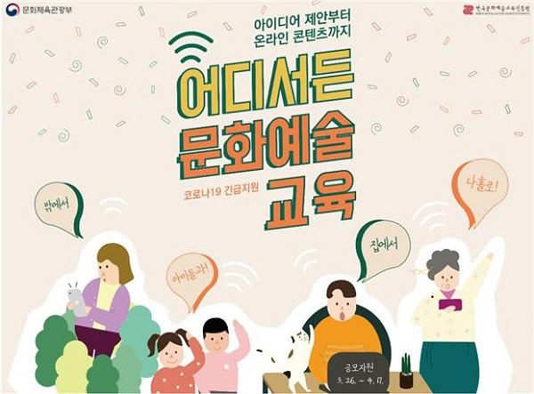 '코로나19 극복, 어디서든 문화예술교육' 신규 추진