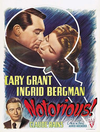 스릴러의 거장 알프레드 히치콕의 걸작 중 하나인 영화 <오명>. (포스터 = KMDb 한국영화데이터베이스)