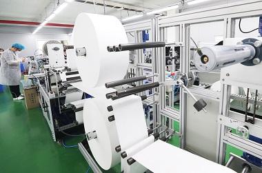 첫 수입 마스크 필터용 부직포  27일부터 생산에 투입