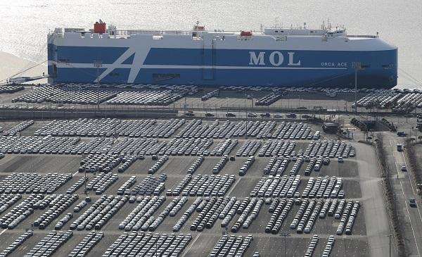 지난 2월 부품 수급 차질을 겪었던 자동차 업종의 생산과 수출이 회복해 지난달 수출이 38.2증가했다. <저작권자(c) 연합뉴스, 무단 전재-재배포 금지> (