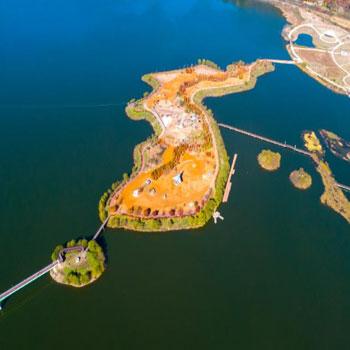 양구 파로호 한반도 섬