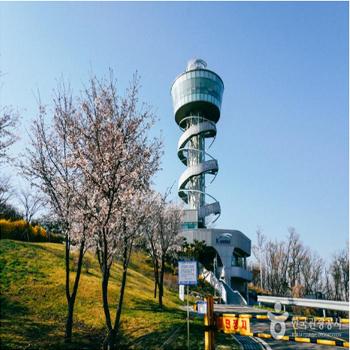 송산그린시티 전망대. 현재는 코로나19로 휴관 중이다.