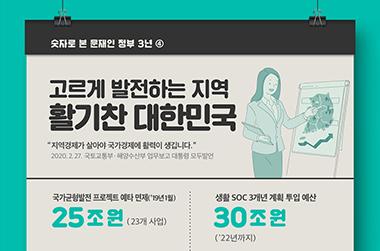 고르게 발전하는 지역 '활기찬 대한민국'