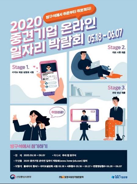 2020 중견기업 온라인 일자리 박람회 포스터, 출처=산업통상자원부