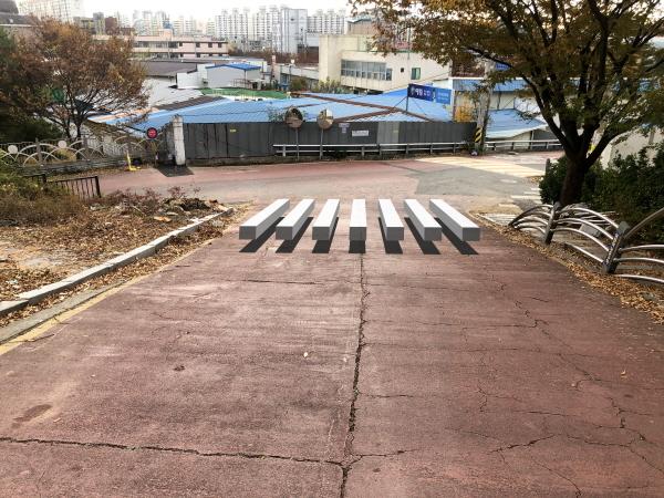 순천 이수초등학교 3D 횡단보도(출처=순천시)