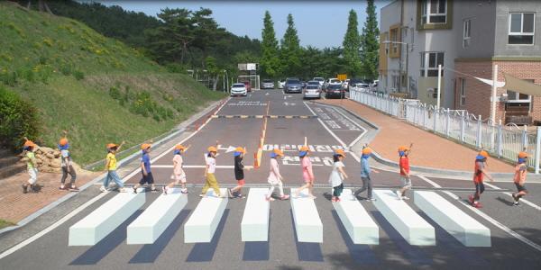 울산경찰청 앞 3D 횡단보도(출처=울산경찰청)