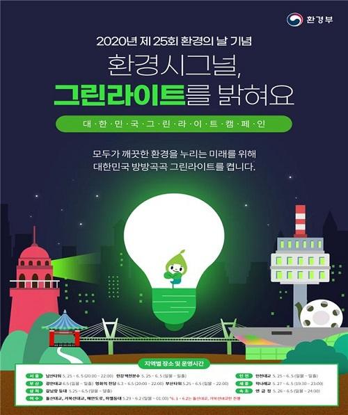 그린라이트 캠페인 포스터.