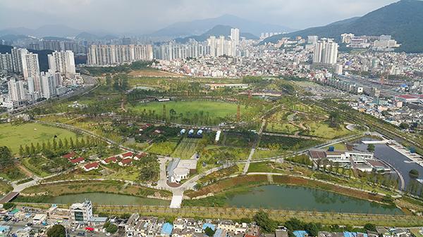 부산의 도시숲. 부산시민공원의 모습.(사진=산림청 제공)