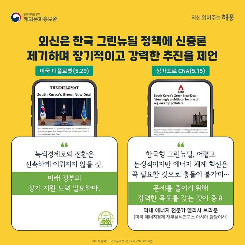 한국형 그린뉴딜 해외언론의 반응은?